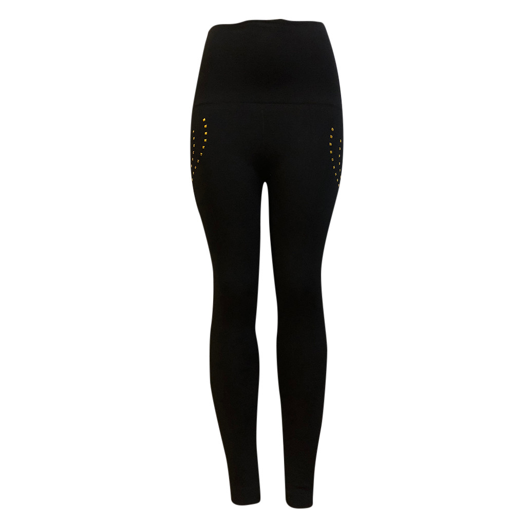 Sexy Anti Cellulite Textu Leggings Women High Waist Push Up Button Pants Female Casual Fitness Leggings Slim Tayt Pants N