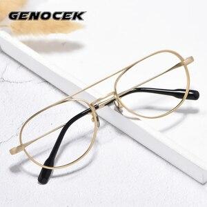Винтажная Роскошная брендовая оптическая оправа для пилота из чистого титана, мужские и женские очки ручной работы, очки для близорукости п...