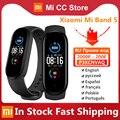 Auf Lager Xiaomi Mi Band 5 Sport Armband Herz Rate Fitness Tracker Bluetooth AMOLED Bildschirm Smart Band Mit 6 Farbe armband