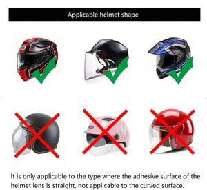 Универсальный мотоциклетный шлем, прозрачная непромокаемая пленка, защита от дождя, для шлемов K3, K4, AX8, LS2, HJC MT