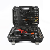 121pcs Car Repair Tool Box Precision Ratchet Wrench Set Sleeve Universal Joint Hardware Tool Kit For Car