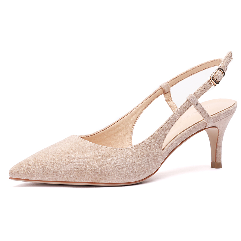 Woman's Spring 6cm Thin High Heels Slingbacks 5