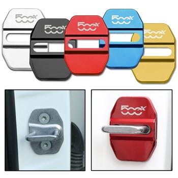 4pcs/lot Door Lock Decoration Protection Cover Emblem Case For Fiat 500X Accessories