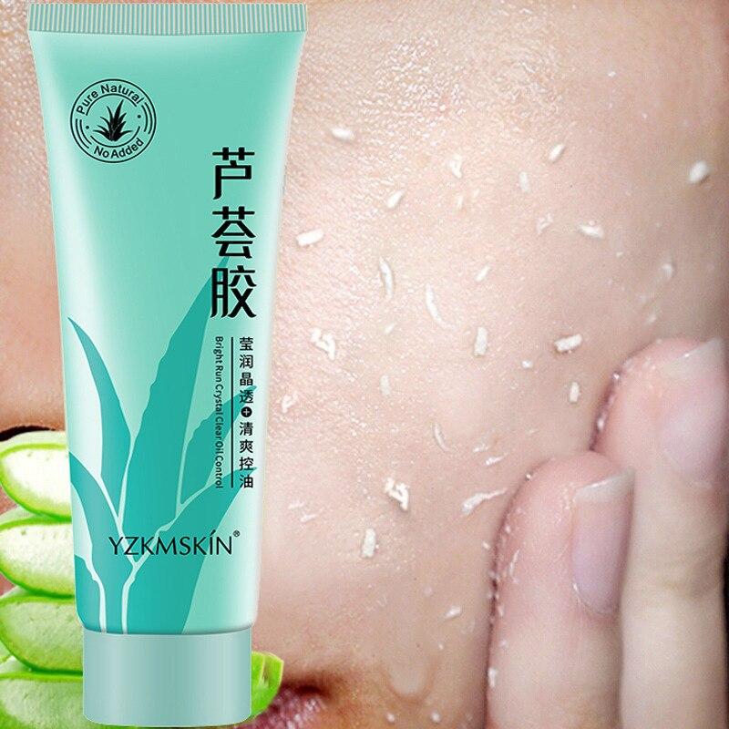 60ml Exfoliating Aloe Vera Gel Deep Cleansing Moisturizes Gel Skin Care Cream Scrub Cleaner Oil-control Face Exfoliating
