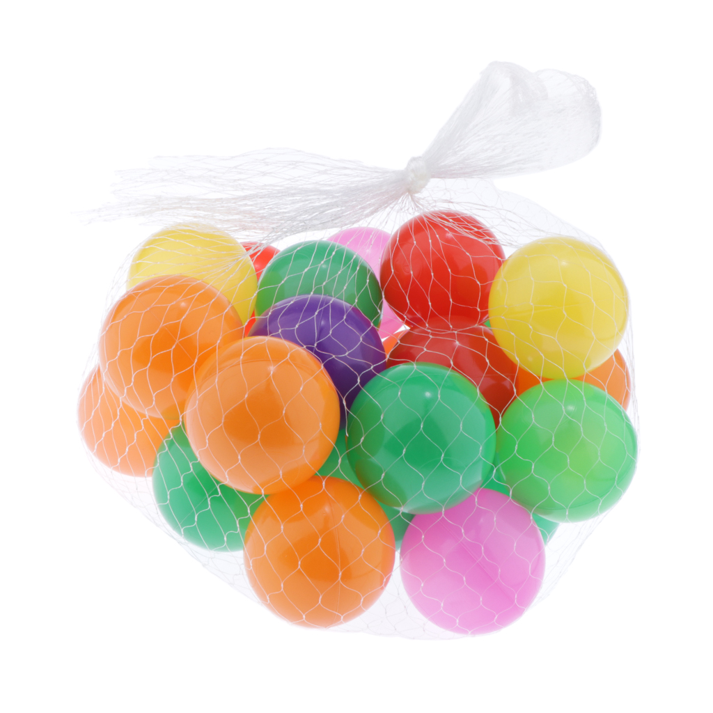 50PCS SOFT PLASTIC OCEAN BALL baby kid children TOY SWIM pit pool game1BP