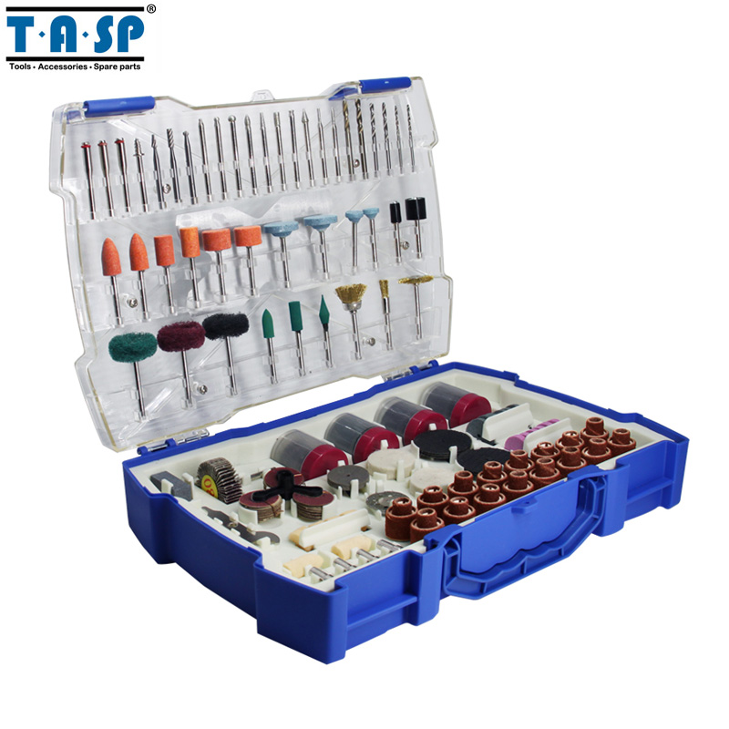 TASP 268pcs Electric Mini Drill Bit Accessories Set Abrasive Tools For Dremel Rotary Tool Sanding Drilling Grinding Polishing