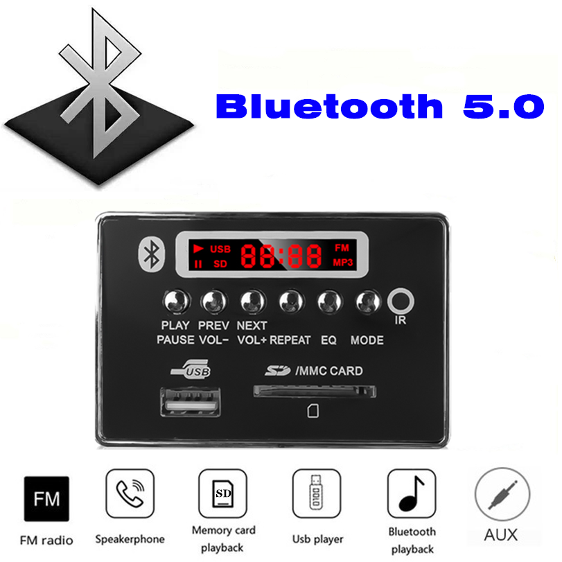 MP3 Bluetooth Decode Papan Bermain Format Lossless Audio, dengan FM USB Folder Kartu SD untuk Bermain Kayu Audio Panel