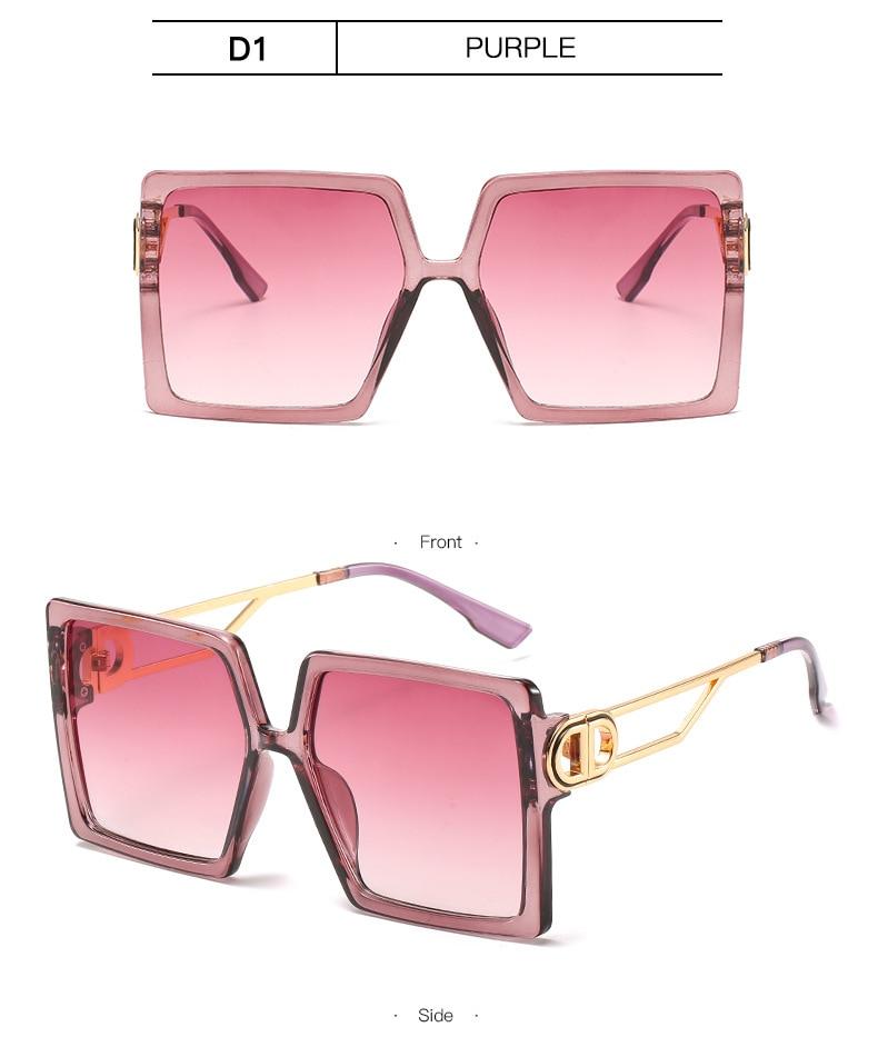 Fashion Sunglass Designer Luxury Brand Square Sunglasses Women Vintage Oversized 2021 trend Female Sun Glasses Shades For Women (14)