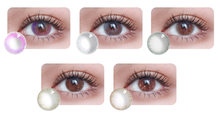2Pcs/1Pair Colorful Cosmetic Bright Eye Care Makeup Tool Big Eyes Colored Beauty Party Personality Make Up(China)