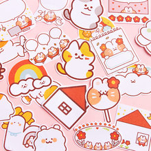 Cute cartoon rainbow cat series Notepad self adhesive Notepad sticky stationery office supplies 30 pieces / batch