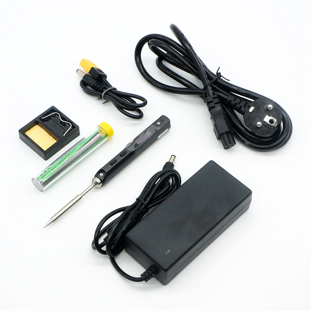 TS100 65W With B2 BC2 I Solder Tip Mini Electric Soldering Iron Station Digital LCD Programable Display Adjustable Temperature