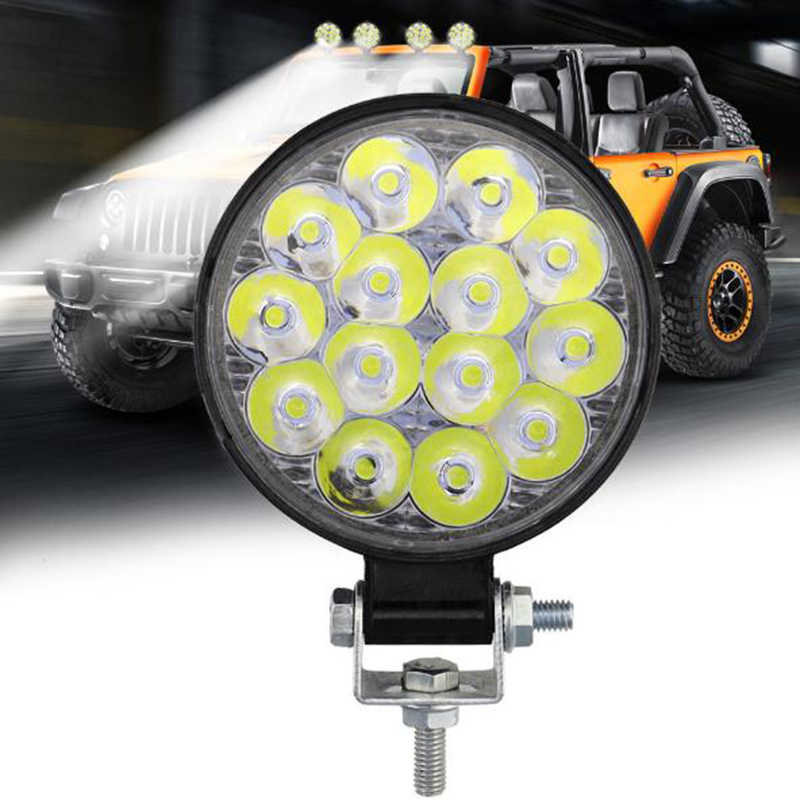 2500lm 42W Round LED Work Light Spotlight  LED Light Bar For 4x4 Offroad ATV UTV Truck Tractor Motorcycle Fog lights