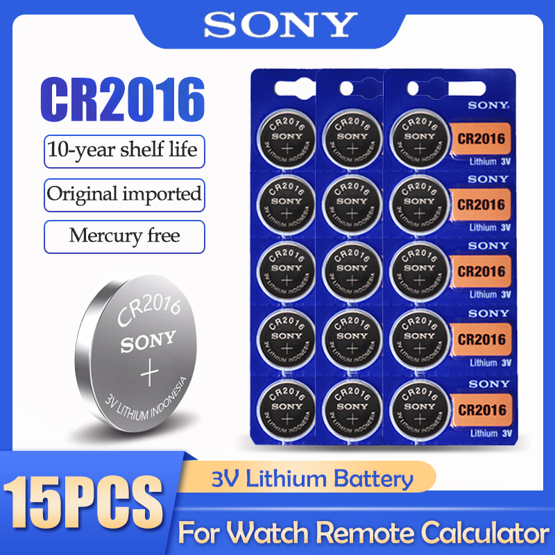 15 шт./лот Sony CR2016 CR 2016 DL2016 LM2016 BR2016 ECR2016 3V литиевая батарея для часов калькулятор пульт дистанционного управления|Часовые батарейки|   | АлиЭкспресс