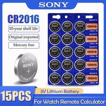 15 шт./лот Sony CR2016 CR 2016 DL2016 LM2016 BR2016 ECR2016 3V литиевая батарея для часов калькулятор пульт дистанционного управления