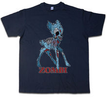 ZOMBI II T-SHIRT Deer Fun Dracula Vampire Bat Zombie Halloween Splatter Bambi Mens Shirts Short Sleeve Trend Clothing Cotton top