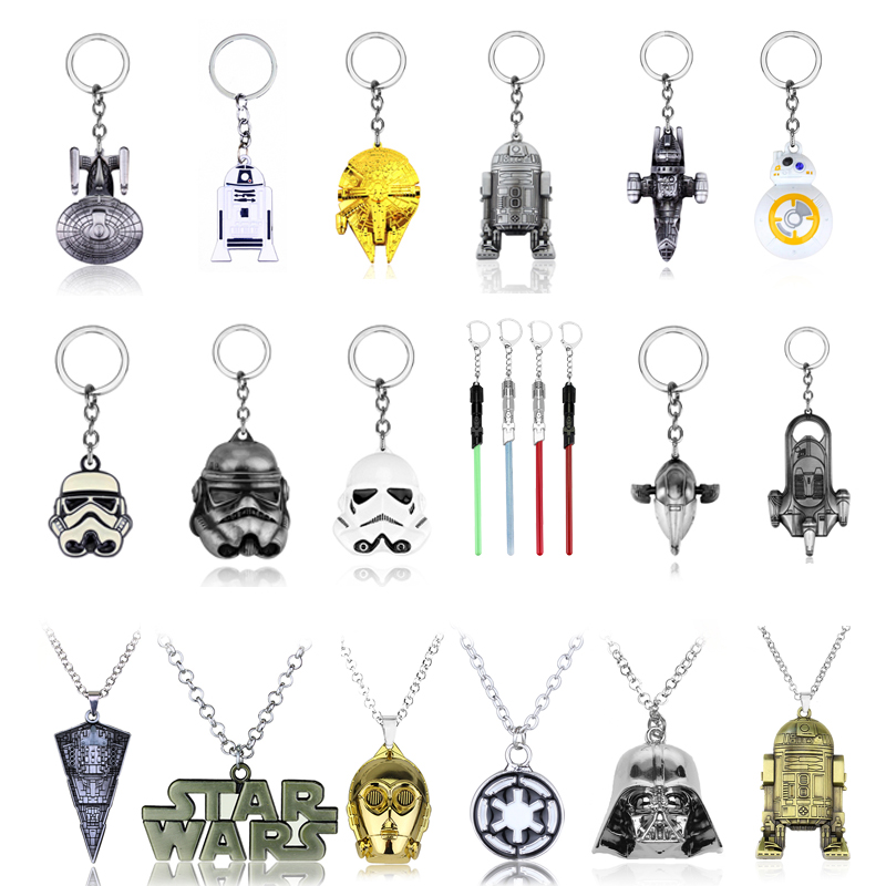 Free Shipping Movie Star Wars Keychain Sword Of Light Lightsaber Keychain Alloy Model High Quality Perimeter Pendant Keychain