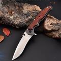 180mm 5CR15MOV cuchilla de apertura rápida cuchillo plegable portátil Color madera mango Camping supervivencia cuchillos de bolsillo al aire libre