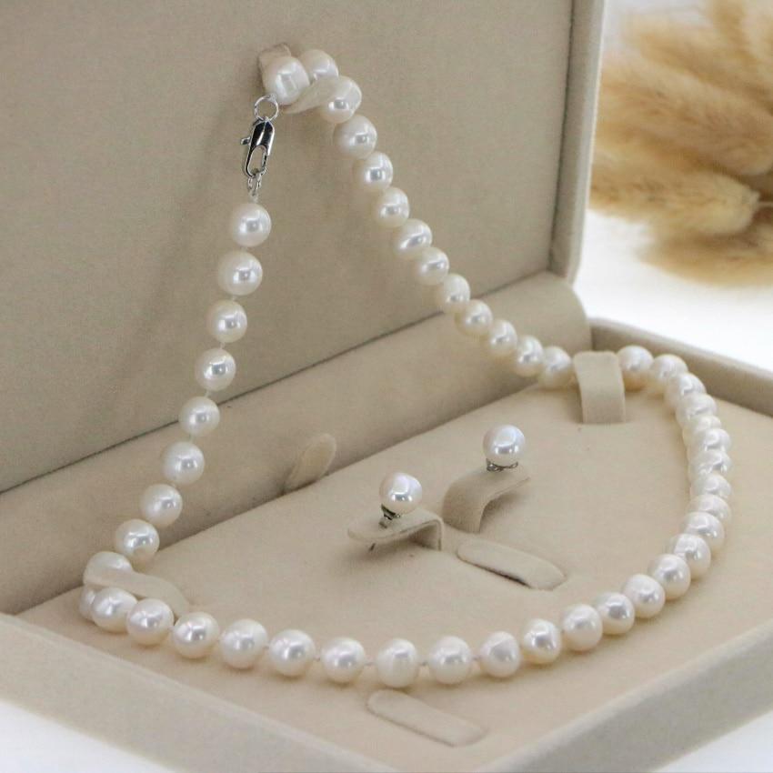 White chain earrings