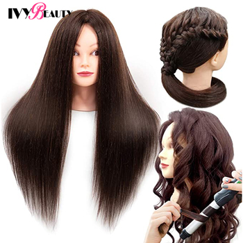 85% Real Human Hair Mannequin Head For Hair Training Styling Practice Professional Hairdressing Cosmetology Doll Head For Braid 85% real human hair mannequin head for hair training styling practice professional hairdressing cosmetology doll head for braid