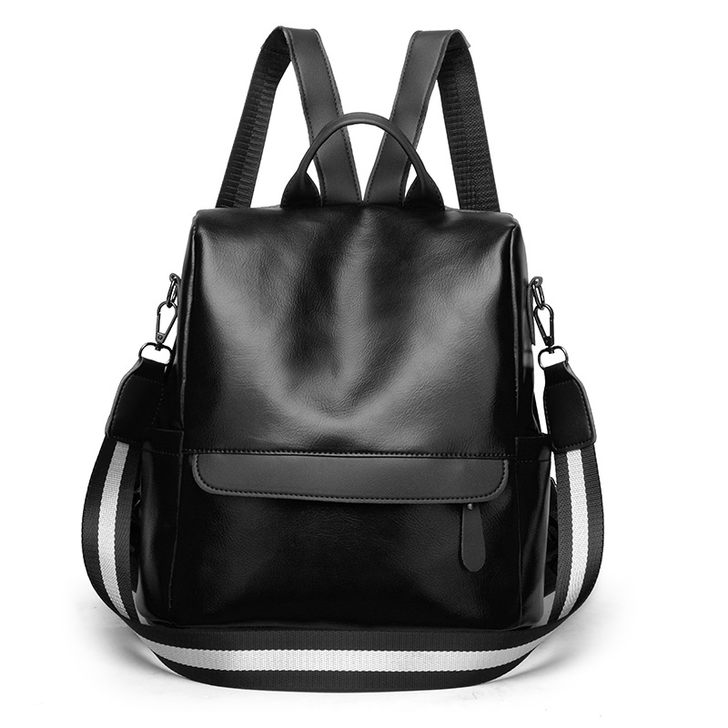 PU Leather Women Backpack Casual School Backpack For Teenager Girl Large Capacity Multifunction Fashion Travel Tote Backpack