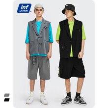 INFLATION Harajuku Sleeveless Vest Men Korean Style Double Breasted Suit Vest 2021 Summer Thin Sleeveless Jacket Men 2405S21