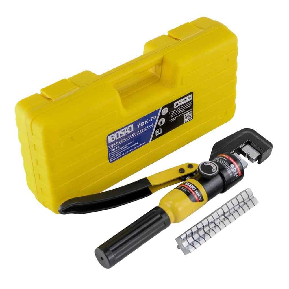 Hydraulische Crimpen Werkzeug Kabel Lug Crimper Zange Hydraulische Kompression Werkzeug YQK-70 4-70mm2 Druck 5-6T ES und RU lager