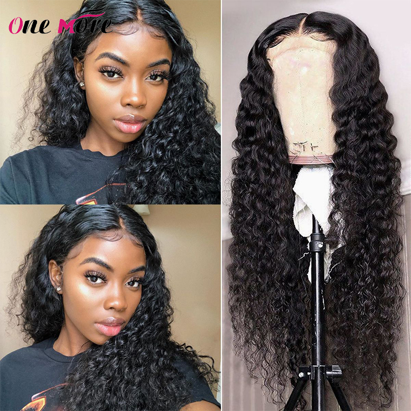 28 30 inch Lace Front Wig Brazilian Deep Wave Glueless Lace Front Human Hair Wigs 4*4 closure wigs Pre Plucked For Black Women