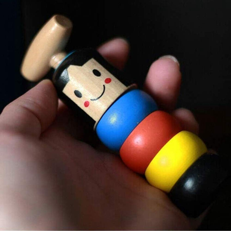 Wooden Colorful Rainbow Stacking Rings ,Solid Wood Toy,Magic Wooden Toy