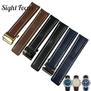 Men 22mm 24mm Watch Bands for Breitling Strap Navitimer Avenger Chronomat Colt Bracelet Black Brown Blue Belt Montre Horloge Uhr