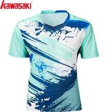 Kawasaki, стиль, дышащая футболка для бадминтона, для мужчин, быстросохнущая, короткий рукав, теннисные футболки для мужчин, спортивная одежда, ST-S1126
