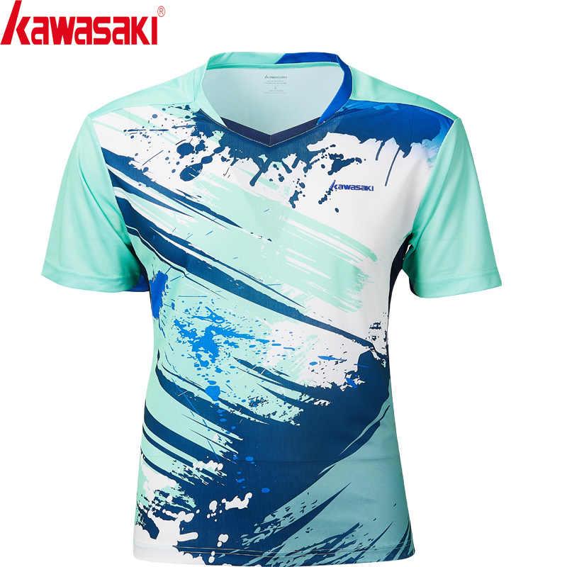 Kawasaki nuevo estilo transpirable camiseta de bádminton para hombre de secado rápido de manga corta Camisetas de tenis para Hombre Ropa Deportiva ST-S1126
