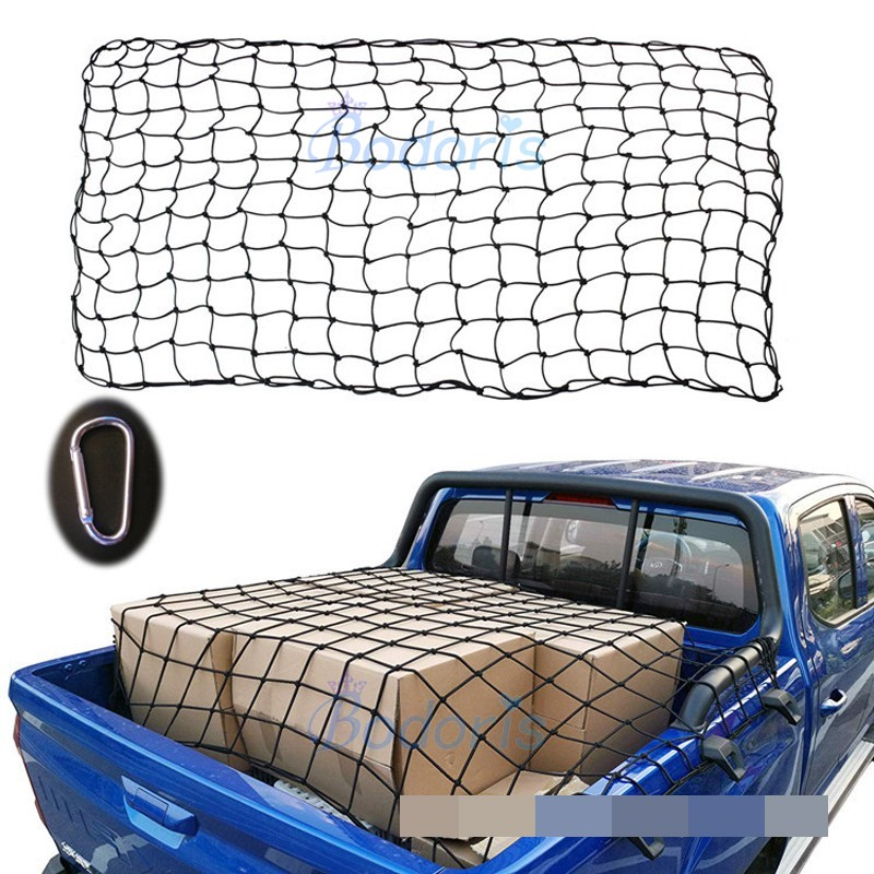 Accessory For Volkswagen VW Saveiro Altas Tanoak Amarok Pick up Trunk Luggage Storage Cargo Nylon Elastic Mesh Net Car Organizer image