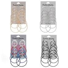 6 Pair/Set Hoop Earrings…