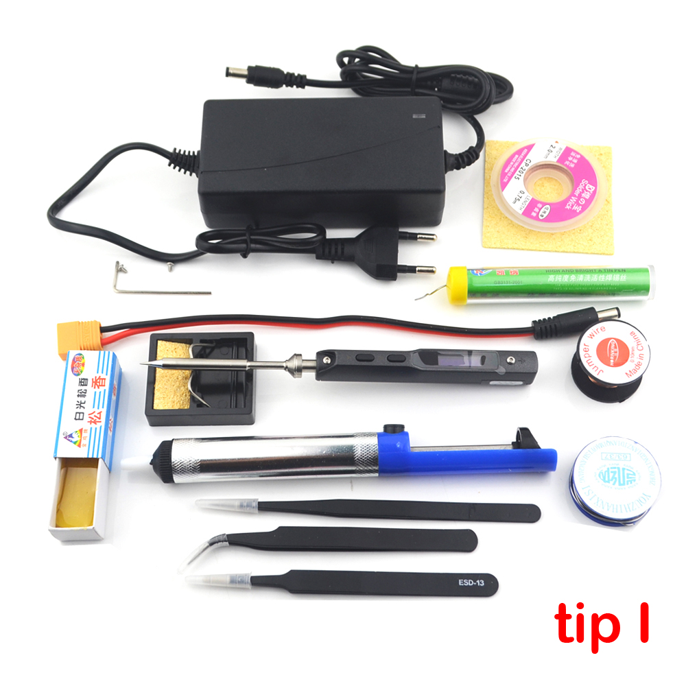 Original TS100 65W Mini Electric Soldering Iron Station Kit Digital LED Display Adjustable Temperature With Tip Power Supply