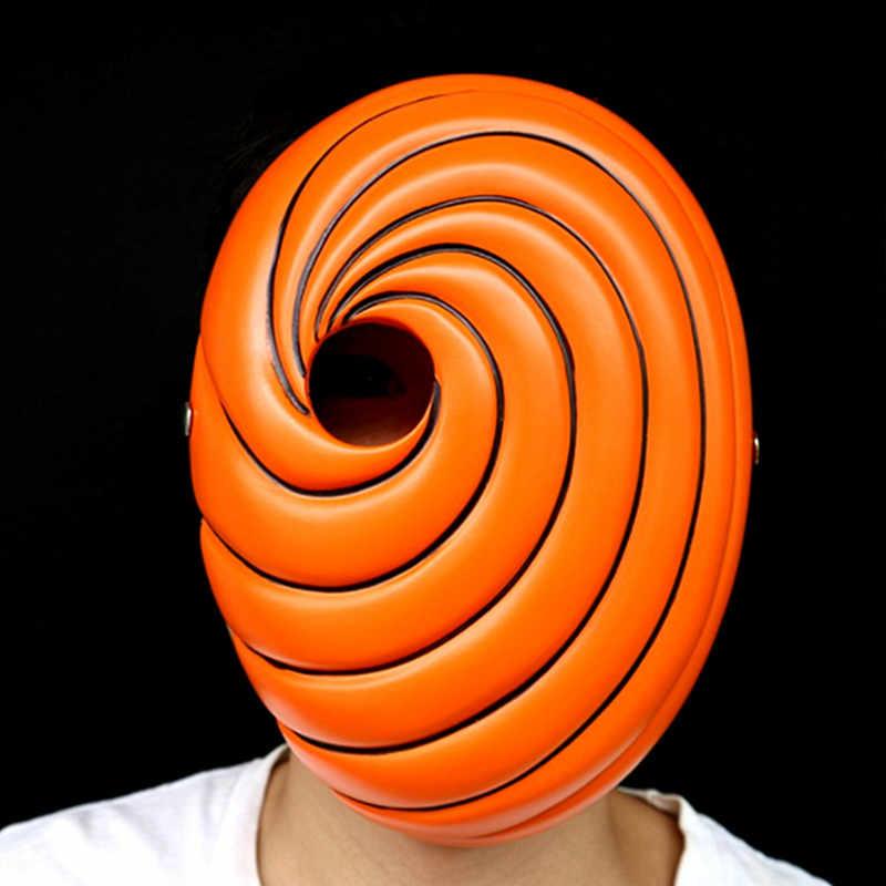 2019 ホット販売 KIGUCOS トビうちは Obito ハロウィンパーティーナルトマスクおかしい小道具プラスチックナルトコスプレマスク樹脂ナルトマスク