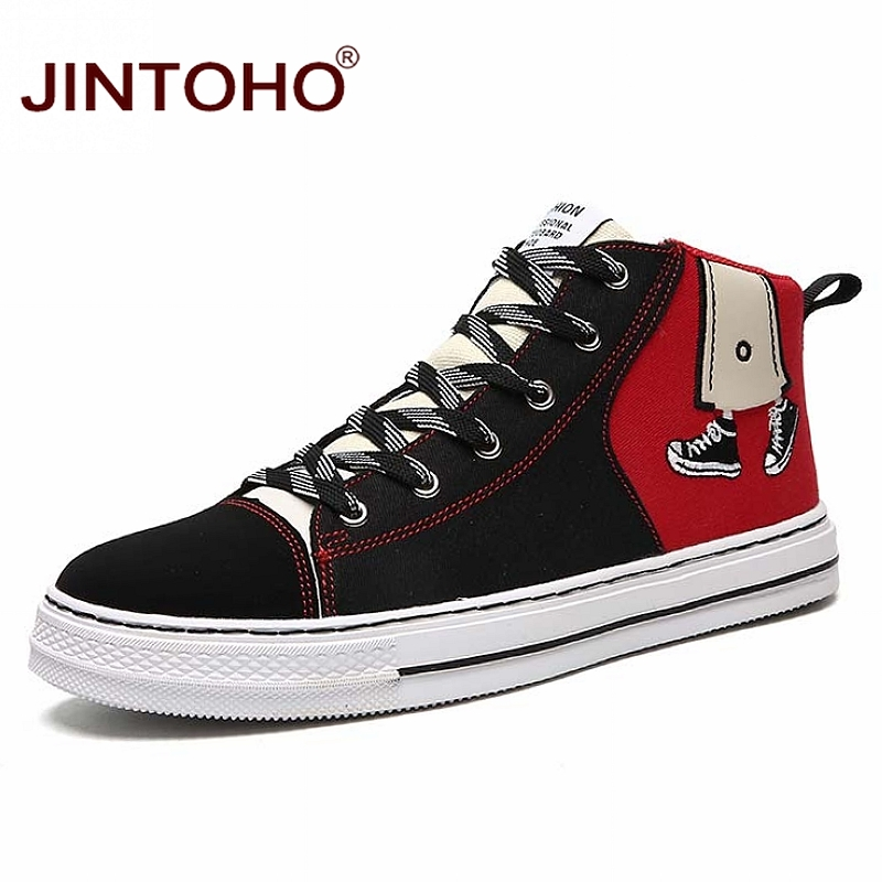 JINTOHO Unisex Fashion Winter Sneakers Casual Unisex Winter Boots Fashion Men Booties Winter Men Shoes Cheap Canvas Shoes