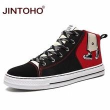 JINTOHO Unisex moda kış ayakkabı rahat Unisex kış botları moda erkekler patik kış erkek ayakkabısı ucuz kanvas ayakkabılar