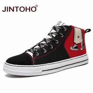 Image 1 - JINTOHO baskets unisexes à la mode, bottes en toile, chaussures unisexes à la mode pour hommes, hiver décontracté