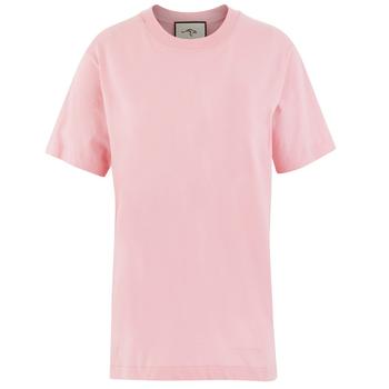 Moda wysokiej jakości kobiety NEW arrival t-shirty kobieta tkanina z nadrukiem t-shirty dla pań tanie i dobre opinie REGULAR Z dzianiny CN (pochodzenie) Na wiosnę jesień COTTON SHORT NONE Dobrze pasuje do rozmiaru wybierz swój normalny rozmiar