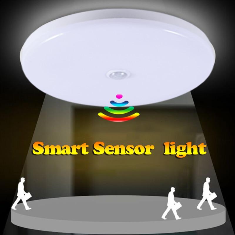 E27 LED Bulb Motion Sensor Ceiling Light 110V 220V PIR Sensor Night Lamps  Auto Turn On Off  5W 9W 12W 18W Hallway Stair Lights