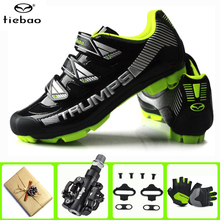 цена на TIEBAO Cycling Shoes Sapatilha Ciclismo Mtb Men sneakers Women add SPD Cleat set Outdoor Mountain Bike Bicycle sports shoes
