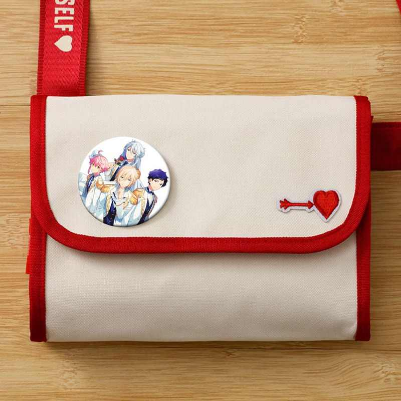 Encantador Anime disfraces insignias conjunto estrellas Akehoshi broche icono Hidaka Hokuto colección bolsa broche