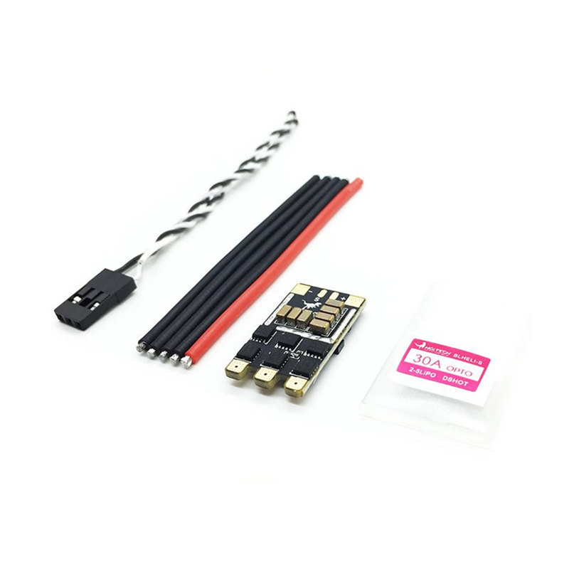 New Arrivals HGLRC <font><b>30A</b></font> 30AMP 2-<font><b>5S</b></font> BLHeli_S 16.5 BB2 Brushless ESC Dshot600 Ready for RC Drone FPV Racing Multicopter Part Accs image