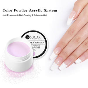 Nail-Polymer-Tools Builder Acrylic-Powder Nails SUGAR Manicure Crystal Pink White 20g