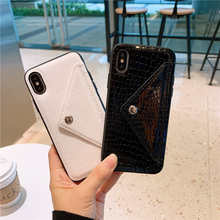 Women wallet leather skin phone cases for iphone 7plus 6 s 7 8 Plus xr xs max crocodile snake fashion envelope card pocket cover