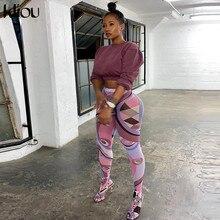 Kliou – pantalon moulant imprimé pour femmes, legging moulant, Sexy, Streetwear, taille moyenne, tendance, 2021