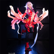 Anime Guilty Crown Yuzuriha Inori Cosplay Costume Goldfish Sexy red Battle suit Halooween Uniform A стоимость
