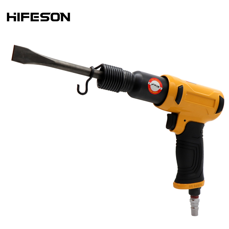 Air Hammer Professional Handheld Pistol Gas Shovels 190W Small Rust Remover Pneumatic Tools with 4 Chisels set