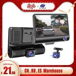 E-ACE Автомобильный dvr 3 камеры s объектив 4,0 дюймов Dash камера двойной объектив с камерой заднего вида видео рекордер Авто регистратор цифровые
