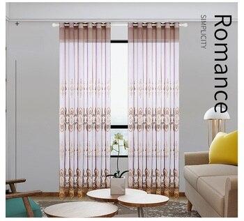Cortinas de jardín europeas simples modernas para el dormitorio del comedor.